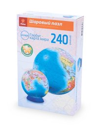 """Шаровый пазл """"глобус"""" (240 деталей, 15 см), Pintoo"""