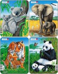 "Пазл ""коала, слон, тигр, панда"", Larsen (Ларсен)"