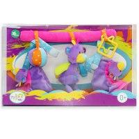 "Развивающая игрушка-подвеска ""мишка"", 3 игрушки, Jam ltd."