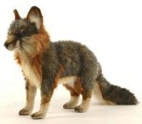 Серая лисица стоящая (40 см), Hansa (Ханса)