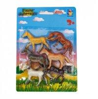 """Набор лошадей """"в мире животных"""", 6 штук (арт. т53829), 1 Toy"""