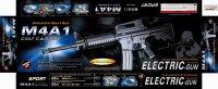"""Оружие детское """"автомат m4a1"""" с пульками, 665 мм, с аккумулятором, лазер, Китай"""