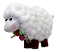 """Декоративная фигурка """"овечка"""", 9 см (арт. 949154), Новогодняя сказка"""
