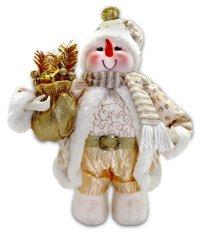 Снеговик под елку, 30 см (золотой), арт. 949138, Новогодняя сказка
