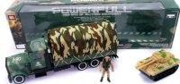 """Машина инерционная """"трак военный"""", с танком, Shantou Gepai"""
