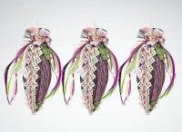 Набор коллекционных украшений (овальные, фиолетовые), Mister Christmas