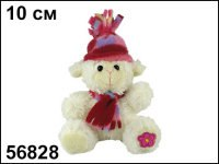"Мягкая игрушка ""овечка в шапочке и шарфике"", 10 см, Пуффи"