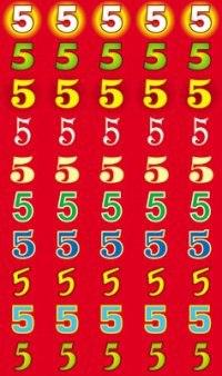 """Наклейки для поощрения """"5"""""""