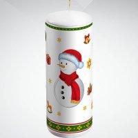 """Свеча """"снеговик"""", 15 см; цвет: белый, Mister Christmas"""