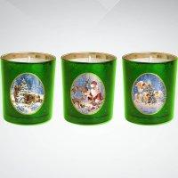 """Набор свечей """"зимняя сказка"""", 7 см; цвет: зеленый, Mister Christmas"""