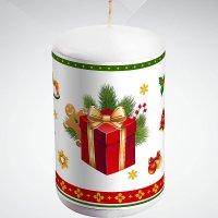 """Свеча """"подарок"""", 10 см; цвет: белый, Mister Christmas"""