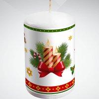 """Свеча """"новогодняя"""", 10 см; цвет: белый, Mister Christmas"""