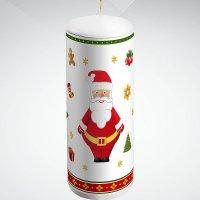 "Свеча ""дед мороз"", 15 см; цвет: белый, Mister Christmas"