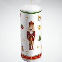 "Свеча ""щелкунчик"", 15 см; цвет: белый, Mister Christmas"