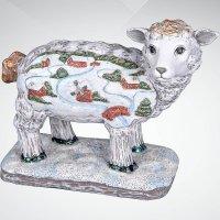 """Фигурка """"овечка"""", 10 см, цвет: белый, Mister Christmas"""
