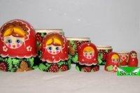 Матрешка 5 в 1, расписная, Русские народные игрушки