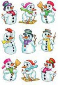 """Наклейки """"новый год. снеговик-спортсмен"""", Herma"""