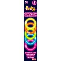 Набор разноцветных светящихся браслетов, 5 штук, 20 см, Action!