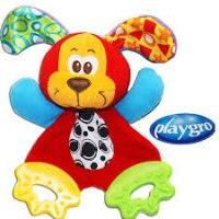 """Мягкая игрушка-прорезыватель """"щенок"""", PlayGro"""