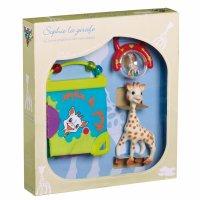 """Подарочный набор для новорожденного """"жирафик софи"""" с книжкой и погремушкой, Vulli"""