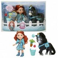 """Кукла """"принцессы дисней. малышка"""" с конем (15 см), Disney Princess"""