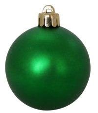 Набор шаров, 12 штук, 5 см, матовые зеленые, WINTER WINGS