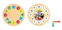 """Пазл """"тишка паровозик. часы с геометрией и цифрами"""", VGA (Wooden Toys)"""
