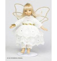 """Кукла """"ангел c волшебной палочкой звезда"""", 18 см, Birgitte Frigast"""