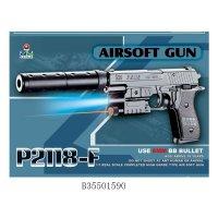 Пистолет пневматический с лазерным прицелом, с фонарем, с пульками, b35501590, Shantou Gepai