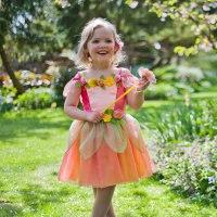 """Карнавальный костюм """"персиковая фея"""", возраст 6-8 лет, рост 116-128 см, Travis Designs"""