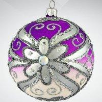 """Украшение коллекционное """"зимняя сказка"""", цвет: фиолетовый, 10 см, Mister Christmas"""