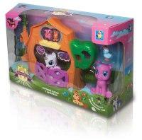 """Набор """"пониландия"""": 2 мягких пони с загородным домиком и аксессуарами, 1 Toy"""