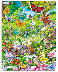 """Пазл """"бабочки"""", 42 детали, Larsen (игрушки)"""