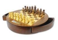 """Шахматы """"каспаров"""" круглые, деревянные фигуры, диаметр 30 см, Kasparov"""