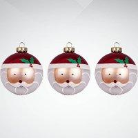 """Набор украшений """"дед мороз"""", 3 штуки, красный/белый, Mister Christmas"""