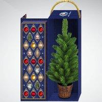 Набор украшений с ёлкой, 23 штуки, красный/золотой, Mister Christmas