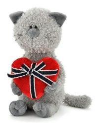 """Мягкая игрушка """"кот обормот с сердцем"""", 30 см, Orange exclusive"""