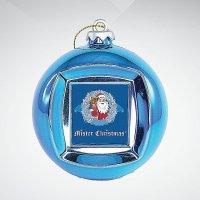 Шар цифровая фоторамка, 65 мм; цвет: синий, Mister Christmas