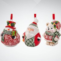 """Набор украшений """"дед мороз с друзьями"""", 8 см, Mister Christmas"""