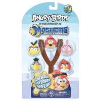 """Игрушки-мялки """"сердитые птички """", 5 штук, рогатка, в ассортименте, Tech4kids Inc."""