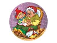 """Мягкий пазл """"красная шапочка и бабушка"""", круглый (30 элементов), Десятое королевство"""