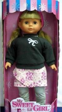 Кукла в синем свитере, 50 см, Lotus Onda