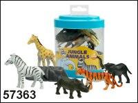 """Набор фигурок """"дикие животные"""" (6 предметов), Пирамида открытий (Kribly Boo)"""