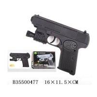 Пистолет пневматический с лазерный прицелом, с пульками, Shantou Gepai