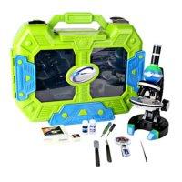 """Набор для исследований """"детский микроскоп в кейсе"""", зелено-синий, Eastcolight"""