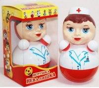"""Игрушка-неваляшка """"медсестра"""", 22,5 см, Котовск (Завидов)"""