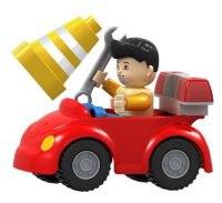 """Конструктор для маленьких """"машинка дорожного рабочего"""", Dr.Luck"""