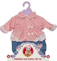 Одежда для куклы 42 см (кофточка в горошек и штанишки), Mary Poppins