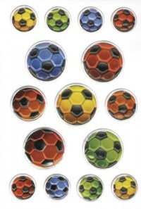 """Наклейки """"цветные мячи"""", Herma"""