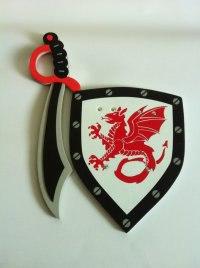 """Набор """"прощай оружие"""": меч и щит многослойный, 40 см, 1 Toy"""